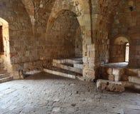 Castelo do mar do cruzado de Sidon, Líbano fotos de stock