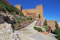 Castelo do Moorish, Almeria, a Andaluzia, Spain. imagem de stock