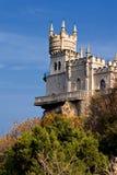 Castelo do ninho da andorinha imagem de stock