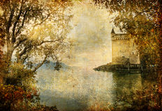 Castelo do outono Fotos de Stock Royalty Free