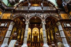 Castelo do palácio de Peles em Sinaia, Romênia imagens de stock