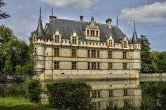 Castelo do renascimento de Azay le Rideau em Touraine imagens de stock royalty free