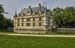Castelo do renascimento de Azay le Rideau em Touraine imagem de stock royalty free