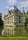 Castelo do renascimento de Azay le Rideau em Touraine foto de stock