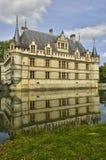 Castelo do renascimento de Azay le Rideau em Touraine fotografia de stock royalty free