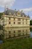 Castelo do renascimento de Azay le Rideau em Touraine foto de stock royalty free
