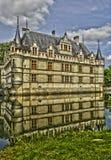 Castelo do renascimento de Azay le Rideau em Touraine fotografia de stock