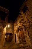 Castelo do Rodes na noite. Foto de Stock Royalty Free