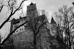 Castelo do ` s de Dracula no farelo Foto de Stock