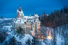 Castelo do ` s de Dracula no inverno Fotografia de Stock