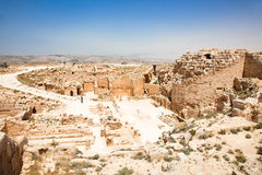 Castelo do templo de Herodion no deserto de Judea, Israel foto de stock