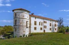 Castelo dos barões de Espelette, França imagem de stock