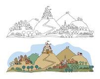 Castelo dos desenhos animados Foto de Stock