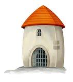 Castelo dos desenhos animados - fortifique a torre ou o tipo da prisão medieval - Imagens de Stock