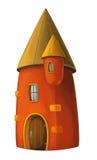 Castelo dos desenhos animados - fortifique a torre ou o tipo da prisão medieval - Fotos de Stock