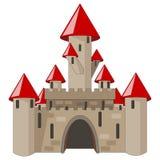 Castelo dos desenhos animados isolado no branco Imagem de Stock