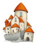 Castelo dos desenhos animados - isolado - para o uso diferente ilustração royalty free