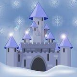 Castelo dos desenhos animados no witer Fotos de Stock