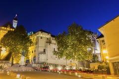 Castelo dos duques do couve-de-milão em Chambéry, França Fotografia de Stock Royalty Free