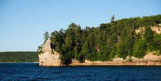 Castelo dos mineiros no nacional retratado das rochas Lakeshore Imagem de Stock