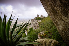 Castelo dos Mouros. The Castle of the Moors (Portuguese: Castelo dos Mouros) is a hilltop medieval castle located in the central Portuguese civil parish of Santa Stock Photography