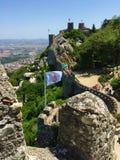 Castelo-Dos Mouros legt Kasteel vast stock fotografie