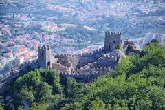Castelo dos Mouros. Mediveal ruins in Sintra Stock Images