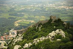 Castelo dos Mouros in Sintra, (Portugal) Stock Photography