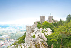 Castelo dos Mouros in Sintra, Portugal. Stock Image