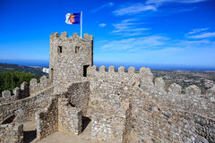 Castelo dos Mouros. SINTRA, PORTUGAL - CIRCA OCTOBER, 2016:  The Castelo dos Mouros alias The Castle of the Moors in Sintra, Portugal Stock Photo