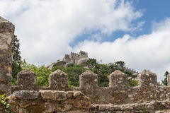 Castelo dos Mouros - Sintra (Portugal). View of the Moors Castle in Sintra, Portugal Royalty Free Stock Photo