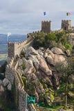 Slott av hederna, Sintra, Portugal landmark Arkivfoto