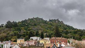 Castelo DOS-mouros timelapse in Sintra stock video footage