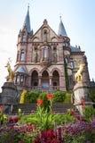 Castelo Dragon Castle de Drachenburg perto de Koenigswinter - Bona em Alemanha Reno-Westphalia norte fotografia de stock