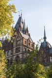 Castelo Dragon Castle de Drachenburg perto de Koenigswinter - Bona em Alemanha Reno-Westphalia norte fotos de stock royalty free