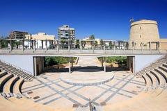 Castelo e Amphitheatre em Roquetas Del Mar imagens de stock royalty free