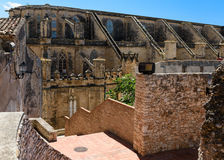 Castelo e catedral de Tortosa fotografia de stock royalty free