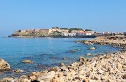 Castelo e cidade de Rethymnon Fotos de Stock