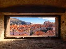 Castelo e cidade na Croácia de Dubrovnik imagens de stock
