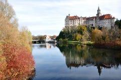Castelo e Donau de Sigmaringen Foto de Stock Royalty Free