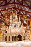 Castelo e Peter Pan mágicos fotos de stock