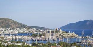 Castelo e porto de Bodrum Imagens de Stock