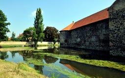 Castelo e rio de Svihov próximo, República Checa fotografia de stock royalty free