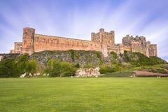 Castelo e terras de Bamburgh imagem de stock royalty free