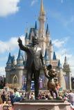 Castelo e Walt Disney de Disney Foto de Stock Royalty Free