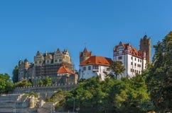 Castelo em Bernburg, Alemanha Fotografia de Stock