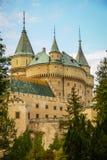 Castelo em Bojnice, slovakia imagem de stock royalty free