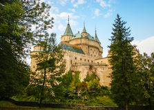 Castelo em Bojnice, slovakia foto de stock