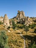 Castelo em Cappadocia, Turquia de Uchisar Foto de Stock Royalty Free