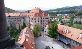 Castelo em Cesky Krumlov Fotos de Stock Royalty Free
